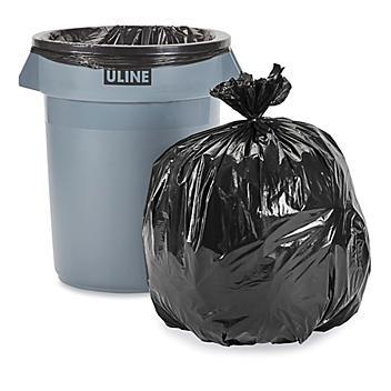 Uline Industrial Trash Liners - 33 Gallon, .75 Mil, Black S-15536