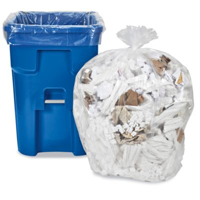 Uline Industrial Trash Liners - 95 Gallon, 2.5 Mil, Clear