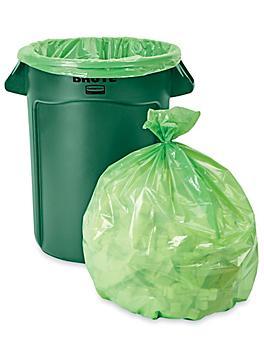 Trash Liners - 33 Gallon, Green S-15542G