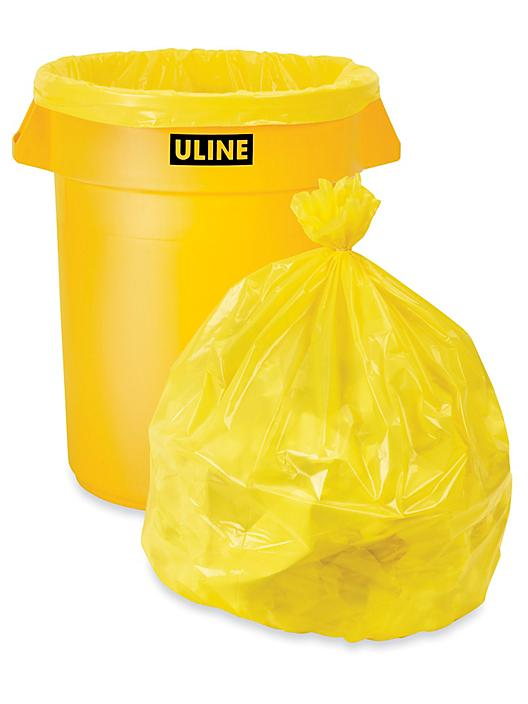 Trash Liners - 33 Gallon, Yellow S-15542Y