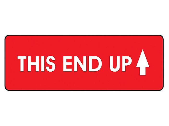 """High Gloss Shipping Labels - """"This End Up"""", 2 x 4"""" S-15561"""