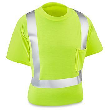 Class 2 Standard Hi-Vis T-Shirt - Lime, Large S-15568G-L