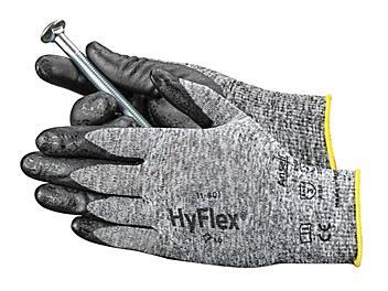 Ansell HyFlex® 11-801 Foam Nitrile Coated Gloves - Gray/Black, Medium S-15572GB-M