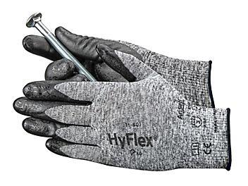 Ansell HyFlex® 11-801 Foam Nitrile Coated Gloves - Gray/Black, XL S-15572GB-X