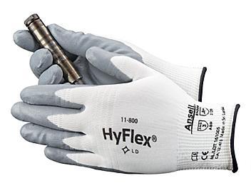 Ansell HyFlex® 11-800 Foam Nitrile Coated Gloves - White/Gray, XL S-15572WG-X
