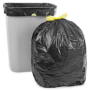 Drawstring Trash Liners - .8 Mil, 13 Gallon, Black S-15583BL