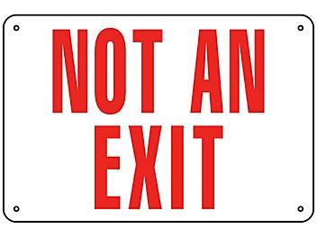 """Not An Exit"" Sign - Aluminum S-15593A"