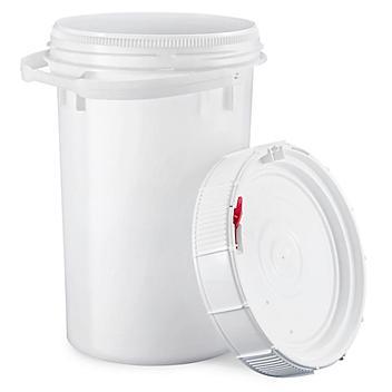 Screw Top Pail - 6.5 Gallon, White Lid S-15637W