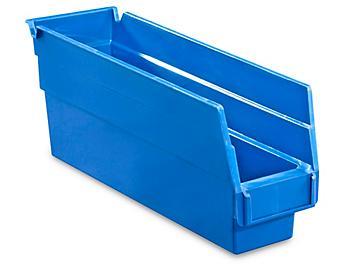 """Plastic Shelf Bins - 2 3/4 x 12 x 4"""", Blue S-15641BLU"""
