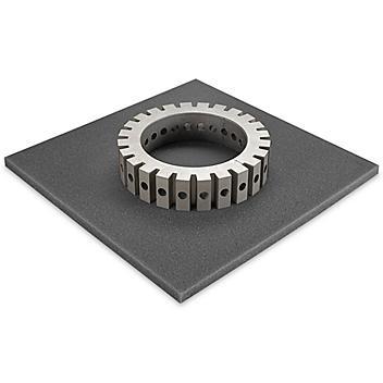 "Uline Soft Foam Sheets - Charcoal, 1/2"" thick, 12 x 12"" S-15661"