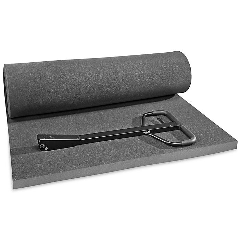 "Uline Soft Foam Sheets - Charcoal, 2"" thick, 48 x 96"" S-15662"