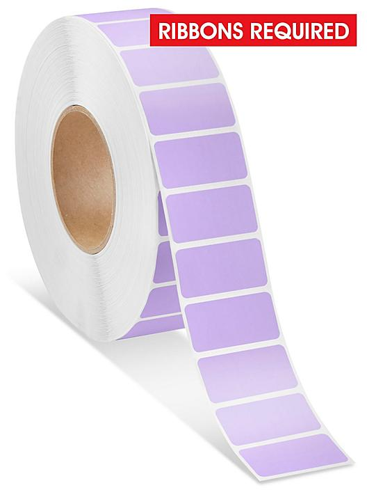 """Industrial Thermal Transfer Labels - Purple, 2 x 1"""", Ribbons Required S-15723PUR"""