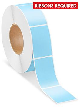 """Industrial Thermal Transfer Labels - Blue, 2 x 3"""", Ribbons Required S-15724BLU"""