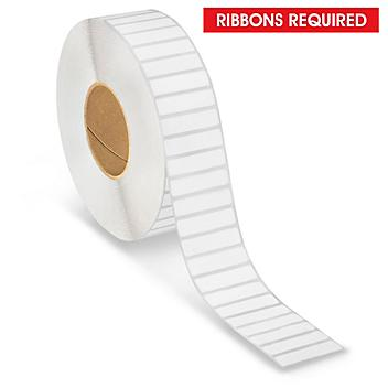 """Industrial Thermal Transfer Labels - 2 x 1/2"""", Ribbons Required S-15728"""