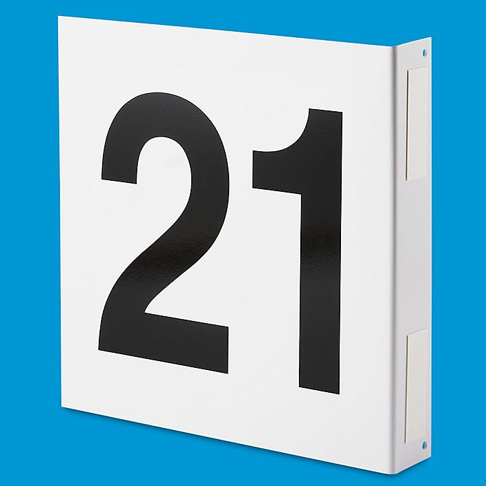 """L-Shaped Numbered Aisle Signs - 21-30, 12 x 12"""" S-15740-3"""