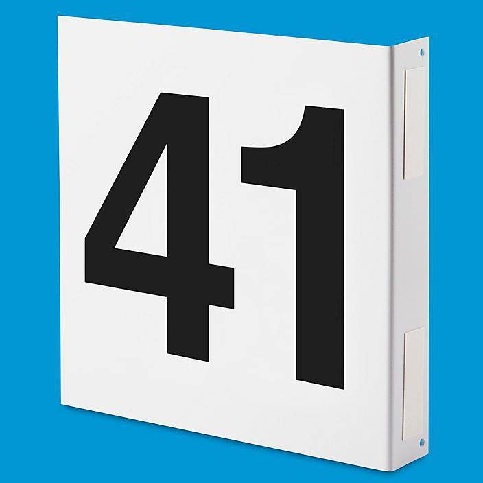 """L-Shaped Numbered Aisle Signs - 41-50, 12 x 12"""" S-15740-5"""