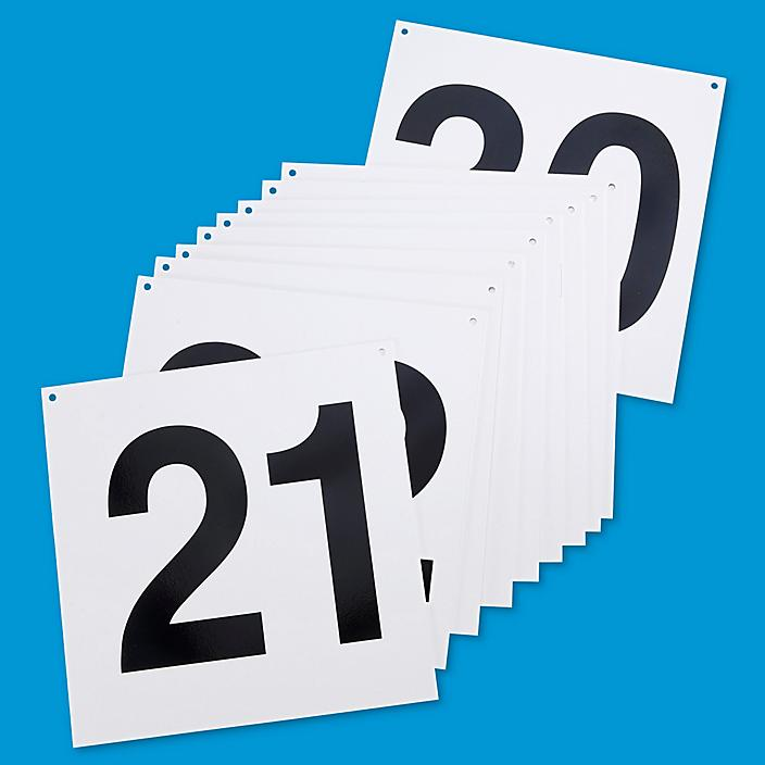 """Hanging Numbered Aisle Signs - 21-30, 24 x 24"""" S-15742-3"""
