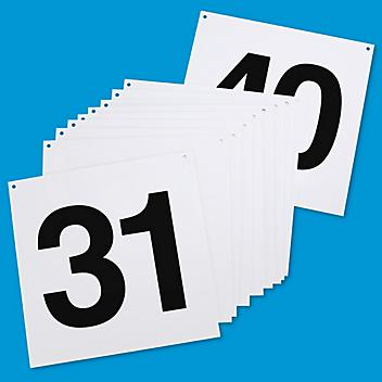 """Hanging Numbered Aisle Signs - 31-40, 24 x 24"""" S-15742-4"""