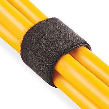 "Uline Self-Grip Straps - 1"" x 75', Black S-15758"
