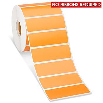 "Desktop Direct Thermal Labels - Orange, 3 x 1"" S-15818O"