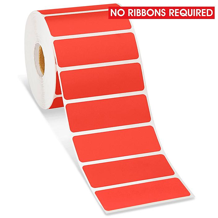 """Desktop Direct Thermal Labels - Red, 3 x 1"""" S-15818R"""