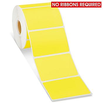 """Desktop Direct Thermal Labels - Yellow, 3 x 2"""" S-15819Y"""