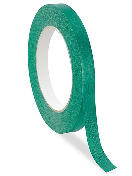 """Masking Tape - 1/2"""" x 60 yds, Green S-15894G"""