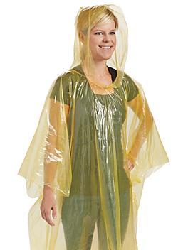 Disposable Ponchos - Yellow S-15898Y