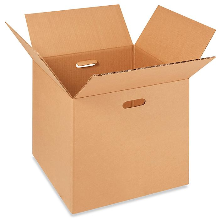 """18 x 18 x 18"""" Corrugated Boxes with Hand Holes S-15961"""