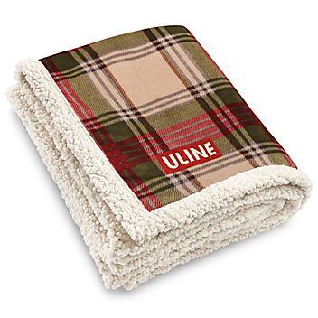 Lamb's Wool Throw- Plaid S-15965PLAID