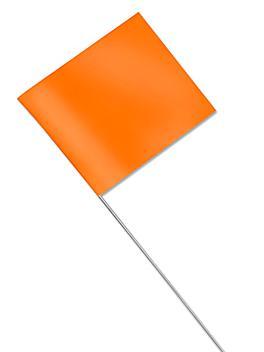 "Stake Flags - 2 1/2 x 3 1/2"", Fluorescent Orange S-16061FO"