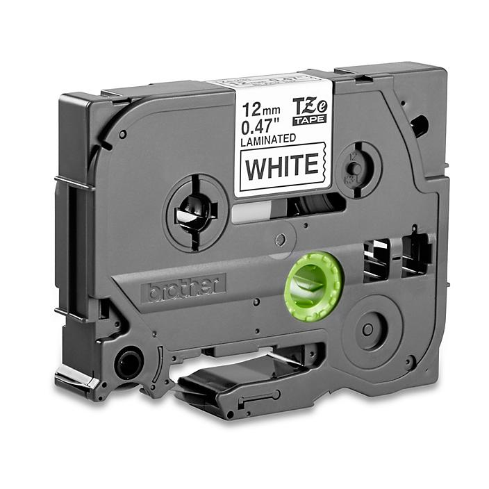 """Brother® P-Touch® TZe Tape - Black on White, 1/2"""" S-16116"""