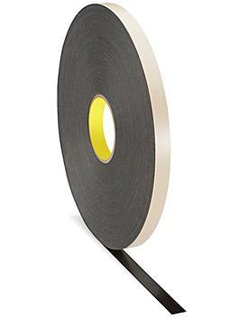 """3M 4492 Double-Sided Foam Tape - 3/4"""" x 72 yds, Black S-16150BL"""