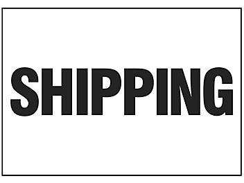 """Shipping"" Sign - Vinyl, Adhesive-Backed S-16152V"
