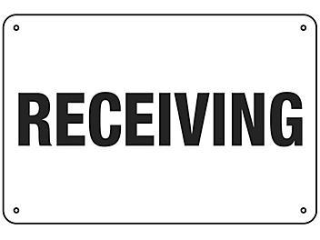 """""""Receiving"""" Sign - Aluminum S-16153A"""