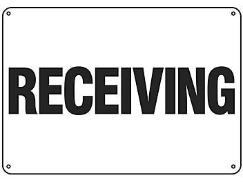 """""""Receiving"""" Sign - Plastic S-16153P"""