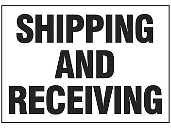"""""""Shipping and Receiving"""" Sign"""