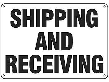 """""""Shipping and Receiving"""" Sign - Plastic S-16154P"""