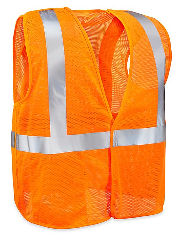 Class 2 Breakaway Hi-Vis Safety Vest - Orange, 2XL/3XL S-16171O-2X