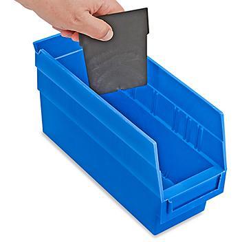 "Dividers for Shelf Bins - 4 x 6"", Black S-16275D"