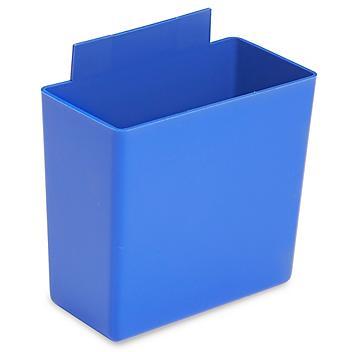 """Plastic Bin Cups - 2 x 3 x 3"""", Blue S-16290BLU"""