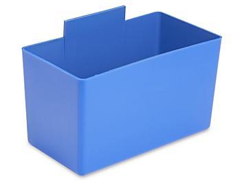 """Plastic Bin Cups - 3 x 5 x 3"""", Blue S-16291BLU"""