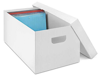 "Plastic Storage File Box - 24 x 12 x 10"" S-16322"