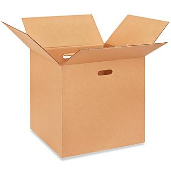 """20 x 20 x 20"""" Corrugated Boxes with Hand Holes S-16381"""