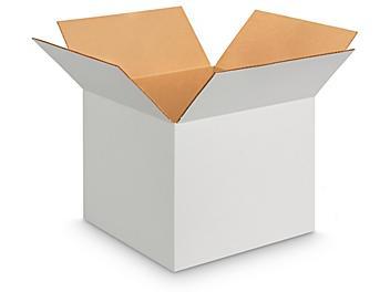 "12 x 12 x 10"" White Corrugated Boxes S-16456"