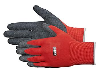 Uline Gription® Flex Latex Coated Gloves - Red, XL S-16882R-X