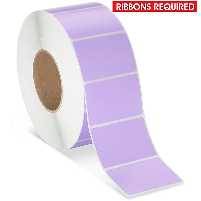"""Industrial Thermal Transfer Labels - Purple, 3 x 2"""", Ribbons Required S-17059PUR"""