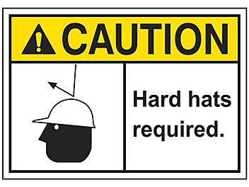 """""""Hard Hats Required"""" Sign"""