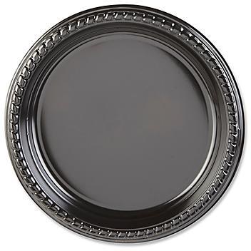 "Plastic Plates - 9"", Heavyweight, Black S-18502BL"