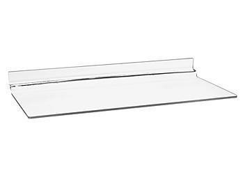 "Slatwall Acrylic Shelves - 10 x 4"" S-18602"